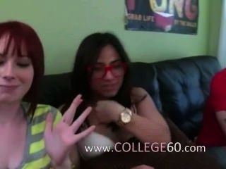 Group Of Young People Sex On College