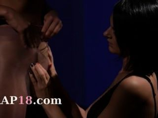 Horny Blackhair Sucking Penis Of Rubber