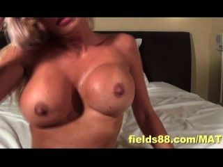 Hot Blonde Housewife Getting Very Wet