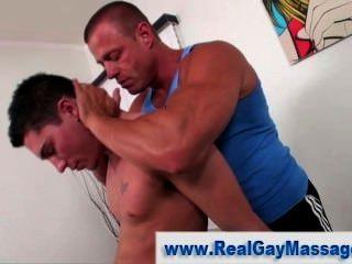 hot masseur seduces straighty