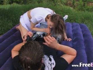 Schoolgirls Sex In The Forest