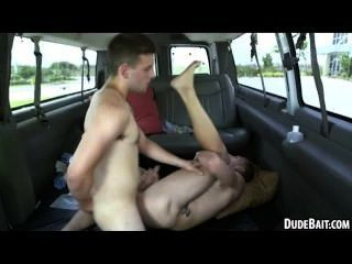 Straight Stud Getting Fucked Anally In The Van