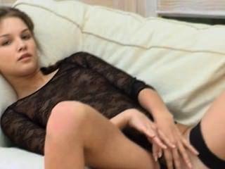Petite 18yo Coed Teasing Herself On Bed