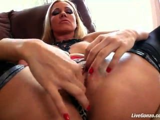 Sandy Milf Licking Her Own Feet And Dildo Play