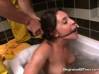 Gracie Glam Gagged And Sucking