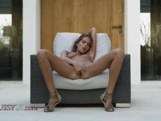 Model In Shoes Self Pleasuring Herself
