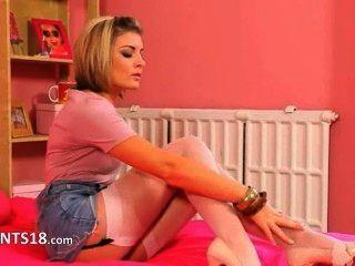 Super Hot Teenie In High Heels Teasing