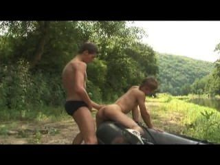 Boys Having Sex By The River