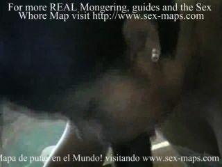 Ebony Rod Into Wet Mouth