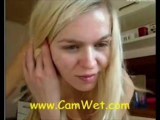 Fabulous Blonde School Girl On Webcam