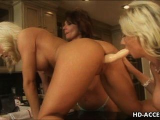 Trio Of Lesbians With Strap On And Toys