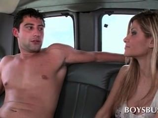 Good Looking Lusty Guy Fucking Gay Ass In The Boys Bus