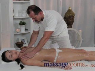 Massage Rooms Gorgeous And Petite Young Teen Gets Creampie From Masseur