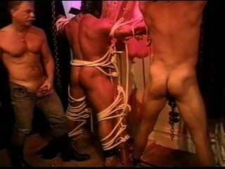 Muscle Butt Beating With 2 Bodybuilders