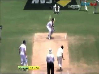 Mitchell Johnson Destroys England, 7-40, Adelaide Oval, Ashes 2013.