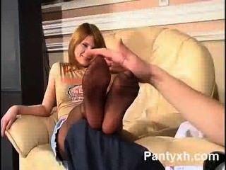 Hottie Pantyhose Teen Fucking Hot