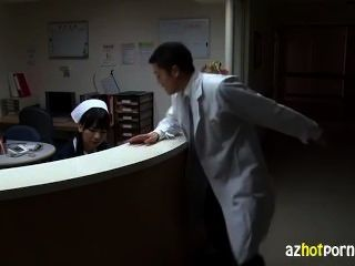 Japanese Ladys Defiled Nurses Gown