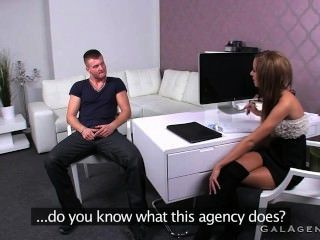 Female Agent Fucked Bent Over A Desk