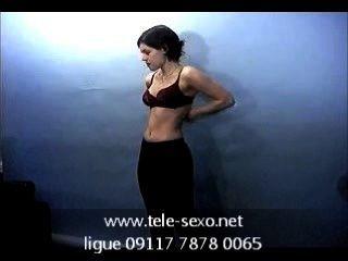Brunette Girl Posing Topless On Casting Www.tele-sexo.net 09117 7878 0065
