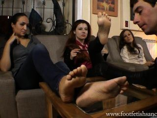 Goddess Victoria And Her Friend Have Their Feet Licked By A Slave