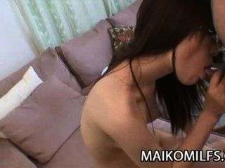 Miu Shinohara: Creampie Surprise For Horny Japanese Housewife