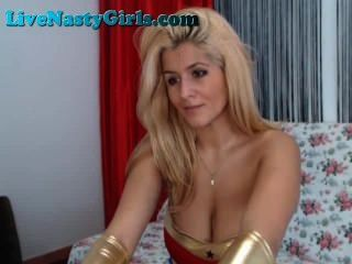 Blonde Wonder Woman And Cop On Webcam Part 1