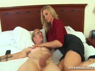 Hot Mom Strokes Hot Cock