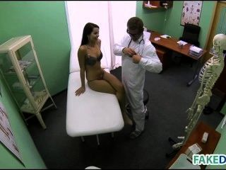 Petite Brunette Teen Fucks In Hospital