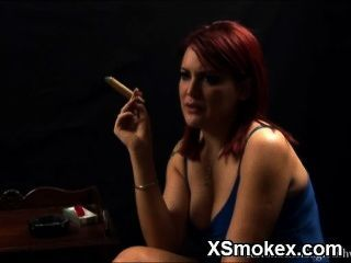Awesome Smoking Chick Ready For Sex