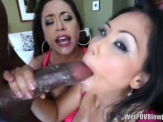 Jessica Bangkok And Eden Alexander Sloppy Blowjob
