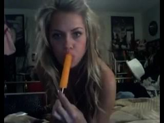 Babe Teasing With A Popsicle