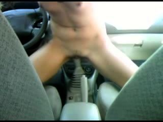 Tattooed Chick Fucks Her Car 039s Stick Shift