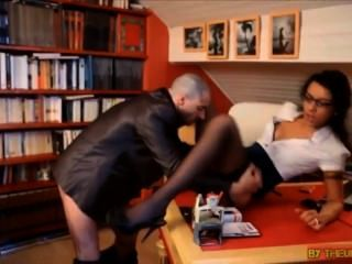 Lou Charmelle In Lingerie Fucked In Office
