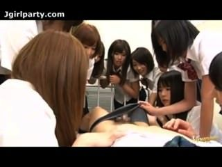 Japanese Group O F The Schoolgirls Fuck In The Classrom 02