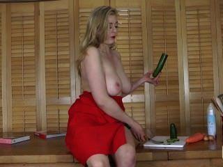 Sapphire(megan Sweets) Cucumber Fuck For Bills Honeys