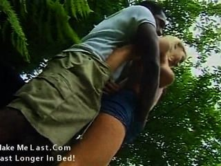 Hot Blonde Has Her Ass Drilled By Huge Black Cock