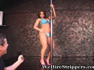 Big Titty Teen Works Pole