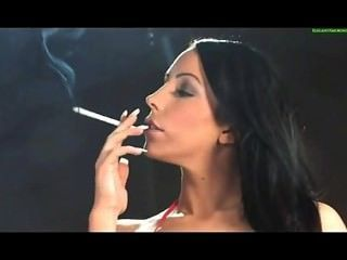 Sexy Model Having A Smoke