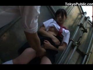 18 Yo Japan Schoolgirl Public Pickup