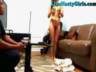 Webcam Girl Has Pizza Guy Fix Sex Toy
