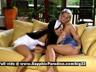 Sapphic Erotica Carie And Anetta Savory Lesbo Girl Kissing And Licking Puss