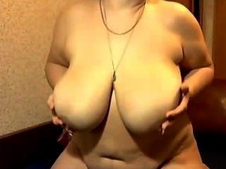 Granny With Huge Tits Masturbating