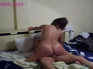 Babe With Hot Ass Rides Her Boyfriends Cock Couples Cowgirl