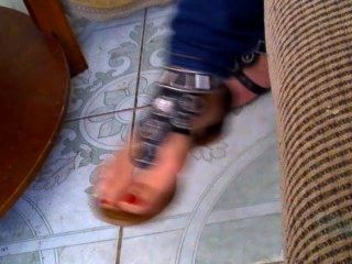 My 19yr Old Cousin Feet And Sandals