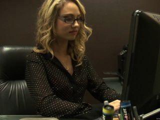 office Blonde secretary fucked in