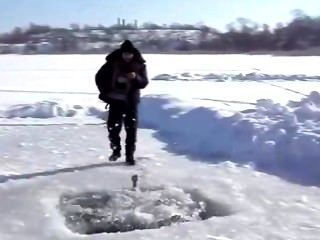 Ice Hole Skinny Dipping Hunky Guys