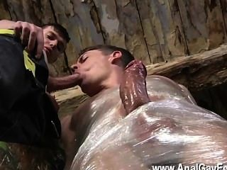 Twink Sex Horny Dude Sean Mckenzie Is Already Trussed Up, But Matt Has A