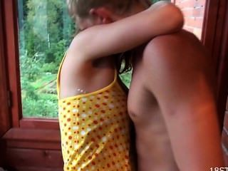 Rowdy Cabin Sex For Teen