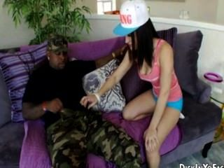 Strong Black Dick For Petite Brunette Teen