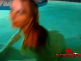 Skinny Dipping Pool Blonde Teen
